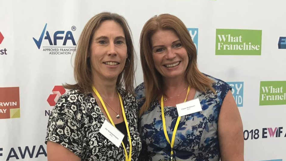 Jes Summeryhays with Extra Help founder Clare Robinson at a recent franchising event